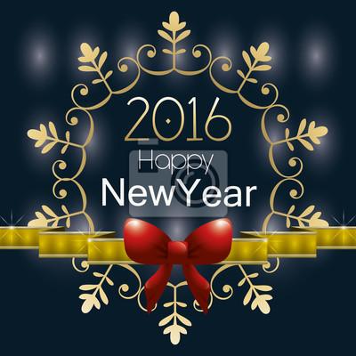 Plakat Szczęśliwego Nowego Roku projektowania