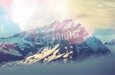 Plakat szczyt górski