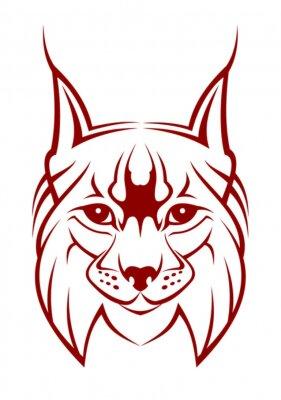 Szef lynx jako maskotka samodzielnie na białym tle