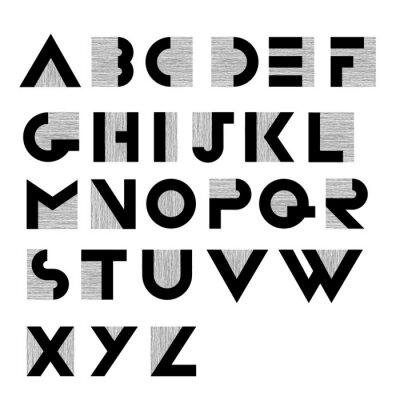 Plakat Szeroki dekoracyjne retro alfabetu