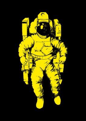 Plakat Szkic ilustracji astronauty