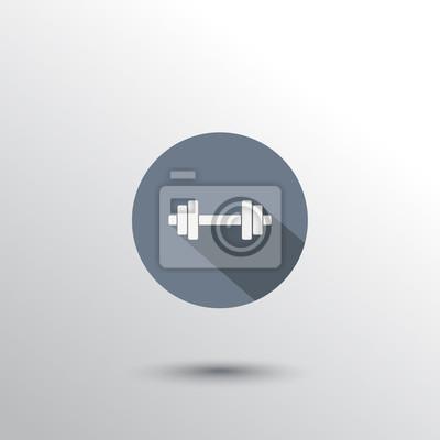 sztangi płasko ikona ikona płaskim ilustracji wektorowych, eps10