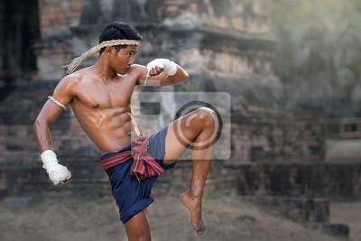 Plakat Sztuki Walki Muay Thai Thai Boxing Muay Thai