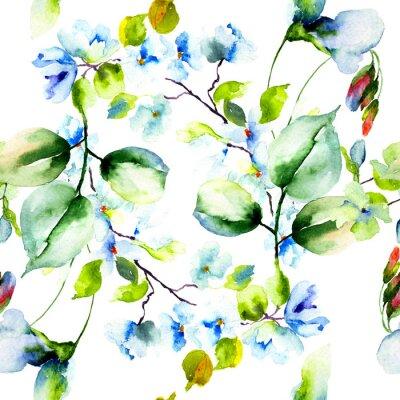 Plakat Szwu z wiosennych kwiatów