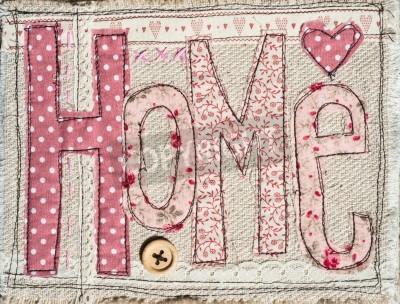 Plakat szyte shabby chic tekst tło dekoracji domu