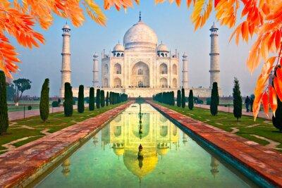 Plakat Taj Mahal o wschodzie słońca, Agra, Uttar Pradesh, Indie.