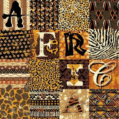 Plakat Tapeta wektorowych stylu afrykańskim