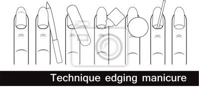 Technika niekanto manicure. manicure Europejskiej. Opis przejścia. Czarny i biały