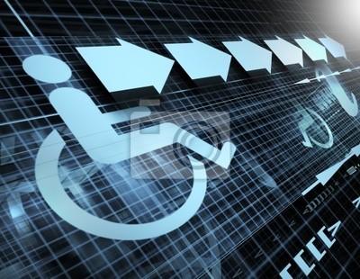 technologii tle z symbolem dostępności