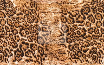Plakat Tekstury paski tkaniny pantery wydruku