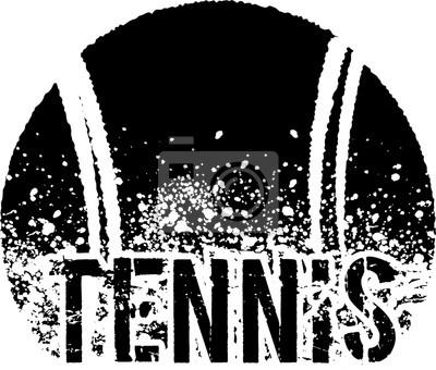 Plakat tennis dark grunge