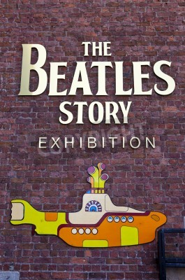 Plakat The Beatles Story Wystawa w Liverpoolu