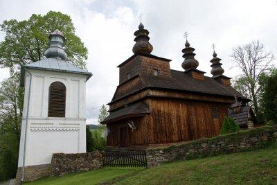 Plakat The Latin church parish of Saint Onuphrius in Wisłok Wielki, Poland