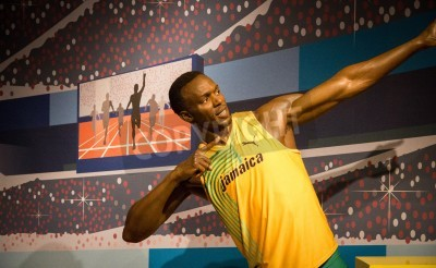 Plakat The statue of Usain Bolt at Madame Tussauds in London, 2012