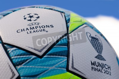 Plakat This is the office ball played in the final match between Bayern Munich and Chelsea