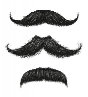 Plakat Three Mustache Set