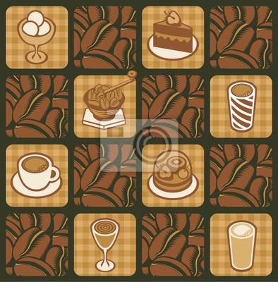 tło na temat ziaren kawy