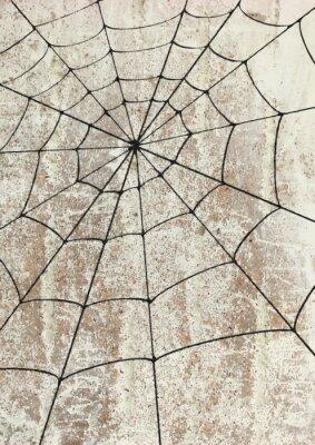 Plakat Toile surd'araignée un MUR. Sztuka uliczna