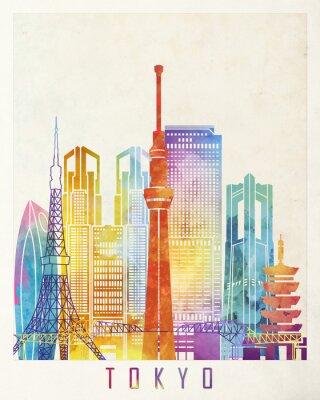 Plakat Tokio Akwarele plakat zabytków