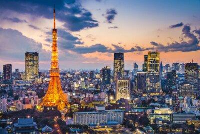 Plakat Tokio, Japonia w Tokio Tower