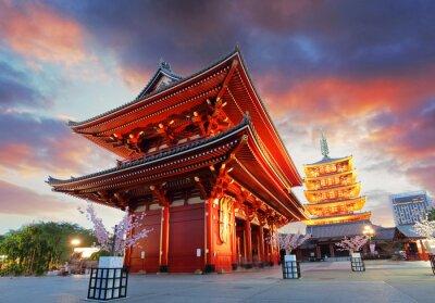 Plakat Tokio - Sensoji-ji Temple w Asakusa, Japonii