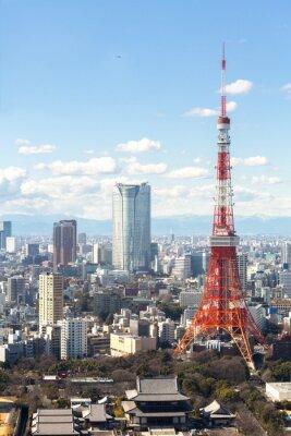 Plakat Tokyo Tower cityscape