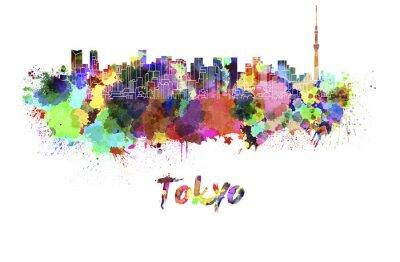 Plakat Tokyo V2 skyline w akwarela