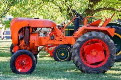 Plakat tracteur ancien
