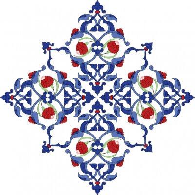 Plakat Tradycyjne sułtan turecki antyczne tile projektowania ilustracji