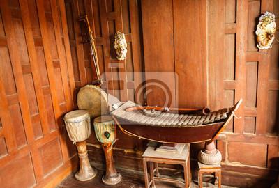 Tradycyjne Tajskie Instrumenty Muzyczne Plakaty Na ścianę Plakaty