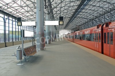 Plakat Train station Sheremetyevo, Moscom, Russia
