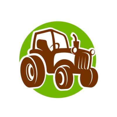 Plakat traktor fermer ikona