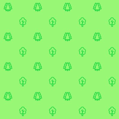 trees pattern, vector seamless background