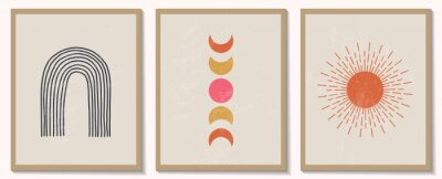 Plakat Trendy contemporary set of abstract geometric minimalist composition
