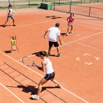 Plakat Trening cardio tenisa