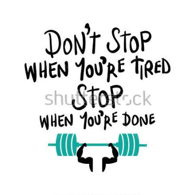 Plakat Trening siłownia fitness Kulturystyka motywacja koncepcja / projekt druku wektorowego
