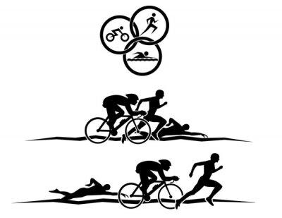 Plakat triathlon