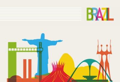 Plakat Turystyka Brazylia skyline