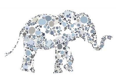 Plakat Twórcze ilustracja słonia