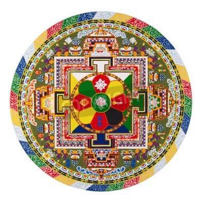 Plakat Tybetański mandala