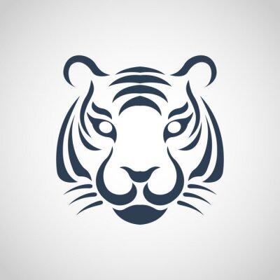 Plakat tygrys wektor logo