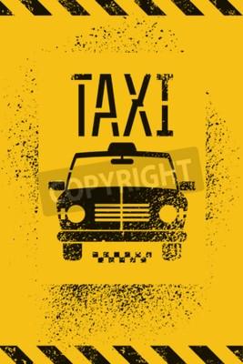 Plakat Typograficzne grafitti grunge retro taxi cab plakatu. ilustracji wektorowych.