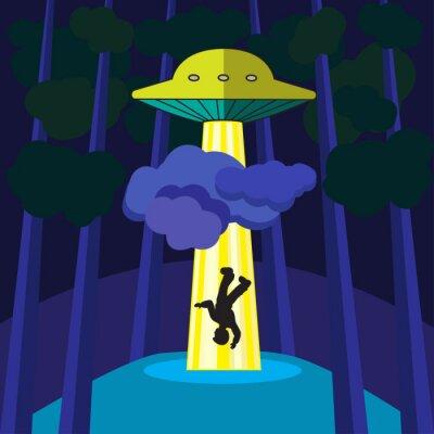 Plakat UFO porywa osobę