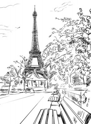 Plakat Ulica w Paryżu.