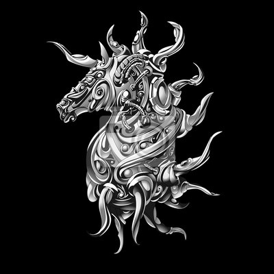Unicorn sobie metal symbolizuje kawałek szachy