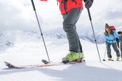 Plakat unterwegs auf Skitour
