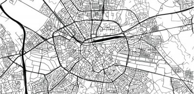 Plakat Urban vector city map of Eindhoven, The Netherlands