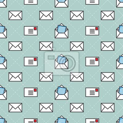 usługi pocztowe Wektor bez szwu deseń odizolowane tapety tła