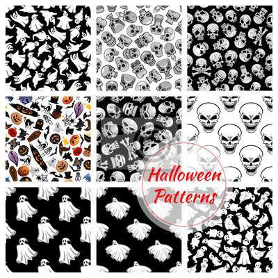 ustawić Halloween bez szwu wzory dekoracji