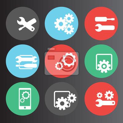 ustawień, konfiguracji lub preferencji zestaw ikon